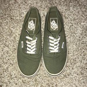 Shoes - Green vans size 6